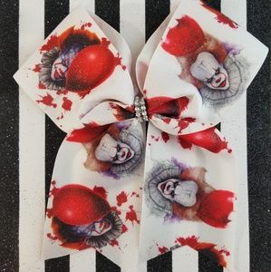 Pennywise IT horror large hair bow
